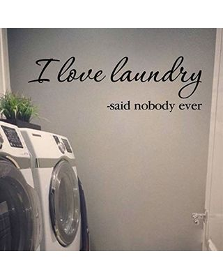 Wildeyessigns I Love Laundry Said Nobody Ever Vinyl Wall Decal By