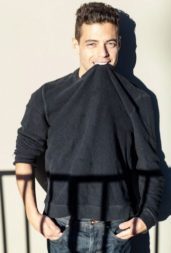 Rami Malek's photoshoot with the Riker Brother's in December