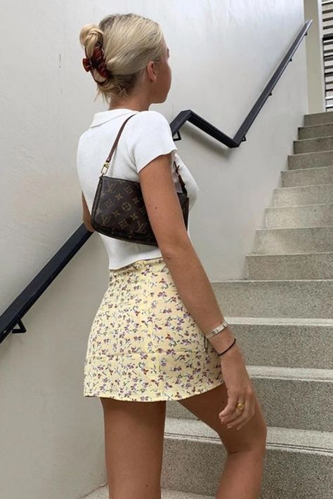 VG Postcards From Sicily Mini Skirt // Floral