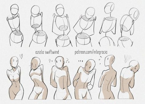 Drawing reference practice human body anatomy tutorial female male man woman standing poses The history of art impresario and art … Body Reference Drawing, Drawing Body Poses, Anime Poses Reference, Drawing Tips, Character Reference, Pencil Sketch Drawing, Pencil Drawings, Drawing Ideas, Drawing Hands