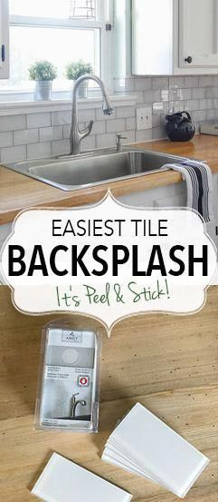 Can You Believe A Backsplash That Looks This Good Can Be Peel And Stick It S Easy To Install And Looks Fantastic Di Diy Kitchen Stick On Tiles Kitchen Decor