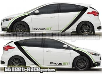 Focus St Racing Stripes Oklejka Avtomobilya Ford Truck Models