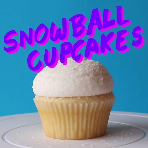 Snowball Cupcake ~ The Scran Line