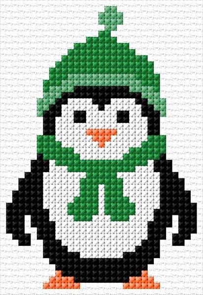 Pinguin|x-stitch|10 Free Patterns Online