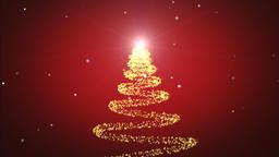 Beautiful Sparkly Christmas Tree Rotating On Red Gradient Background With Snowflakes Christmas Anim Red Gradient Background Gradient Background Christmas Tree