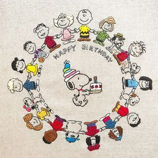 Peanuts Embroidery On Instagram Merry Christmas And Happy