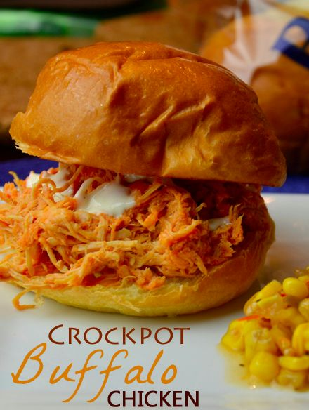 Crockpot Buffalo Chicken Recipe. If you have a slow cooker and love buffalo chicken, this recipe is for you.