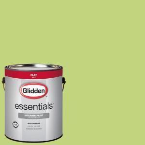 Glidden Essentials 1 Gal Hdgg27 Spring Green Flat Interior Paint