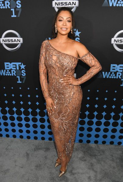 La La Anthony attends the 2017 BET Awards.
