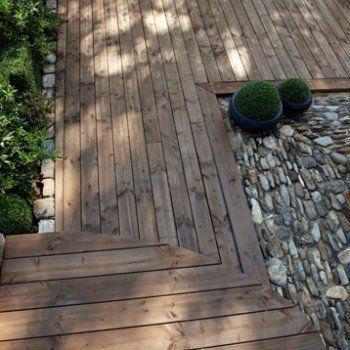 Planche Bois Douglas Naterial Marron L 250 X L 17 5 Cm X Ep 33 Mm Bois Douglas Bois Terrasse Bois