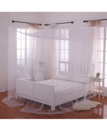 Epoch Hometex Inc Cottonloft Palace 4 Post Bed Sheer Mosquito Net