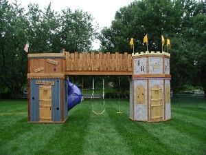 Love This Castle/fort Swing Set | AWESOME TOYS | Pinterest | Swings, Play  Areas And Playhouses