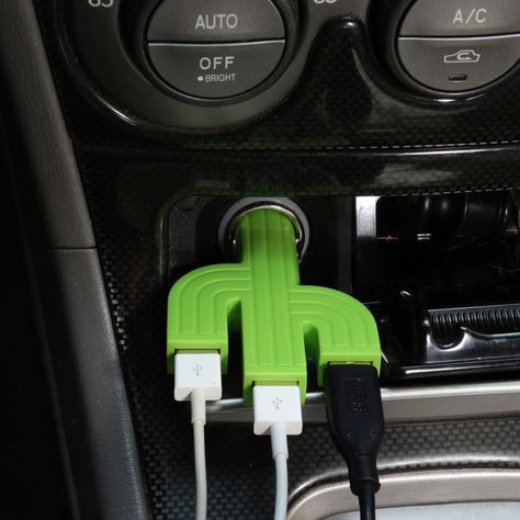 A prickly friend for your thirsty battery. Fits any lighter socket. Amps allows for charging 3 mobile devices or 1 mobile and 1 tablet. Hippie Auto, Hippie Car, Car Interior Accessories, Car Accessories For Girls, Diy Accessories, Martini Racing, Dodge Viper, Ford Gt, Audi Tt