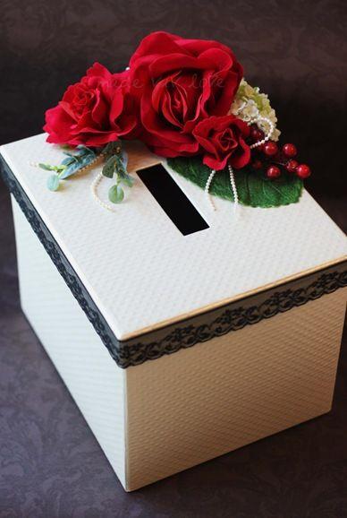 Made Viv Love Red Red Roses Ang Pow Box Card Box Wedding Red Rose Wedding Money Box Wedding