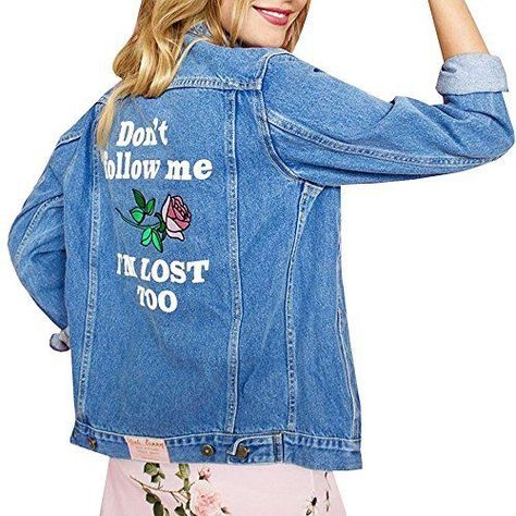 Generic Womens Long Sleeve Plus Size Hooded Long Jean Jacket Denim Loose Coat 2XL