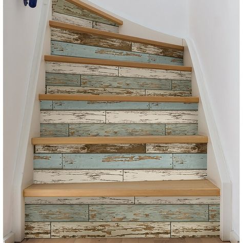 WallPops NuWallpaper Peel & Stick Wallpaper-Old Salem Adding a wood feature wall to your home has never been easier. This peel and stick wallpaper is easy to use and wont harm your walls. The distressed wood pattern gives the look of reclaimed materials