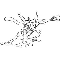 Greninja Pokemon Coloring Pages