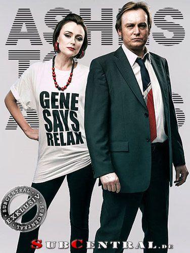 Ashes To Ashes (UK) Keeley Hawes & Philip Glenister  Holy shit I need her shirt!  Gene Genie!
