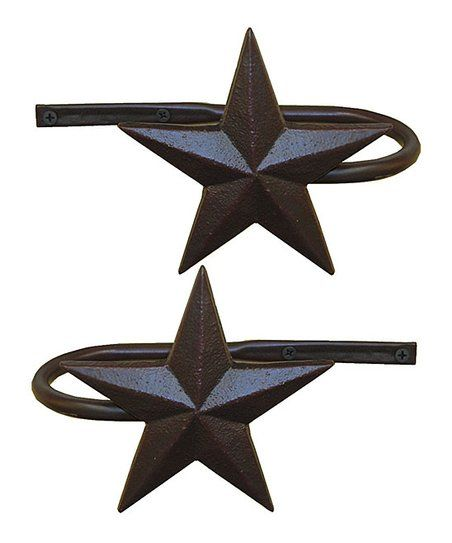De Leon Collections Metal Star Curtain Holdback Set Of Two