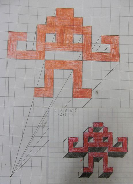 3D Space Invaders - Class loved this one, they really got to grips with the idea and gained