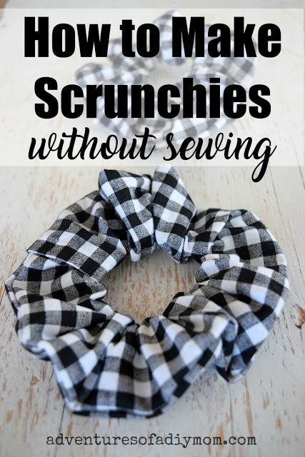 How to Make Scrunchies without Sewing