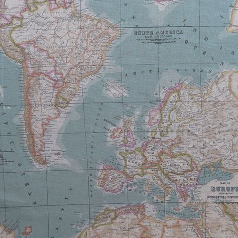 Tela Mapa Mundi Aturquesada Telas Tela De Mapa Y Tienda De Telas