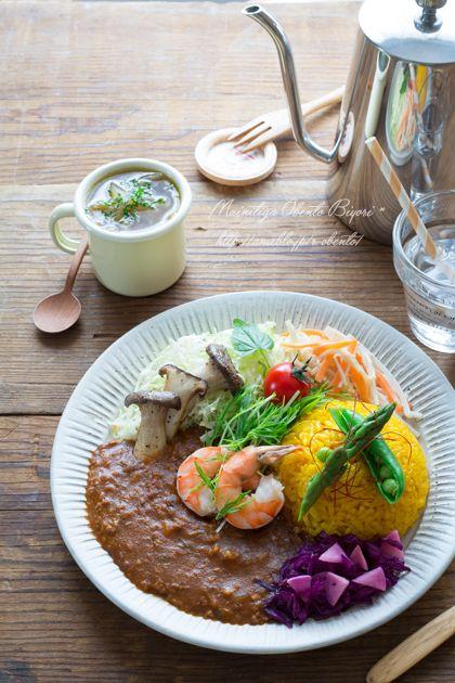 週末カレープレート。 | あ~るママオフィシャルブログ「毎日がお弁当日和♪」Powered by Ameba