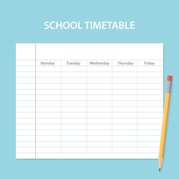 School Timetable Card Background With Striped Sheet School Timetable Timetable Template Us School