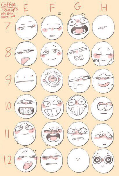 Face Reference How To Draw Faces Funny Comic Anime Illustration Drawing Drawing Face Expressions Drawing Expressions Art Reference