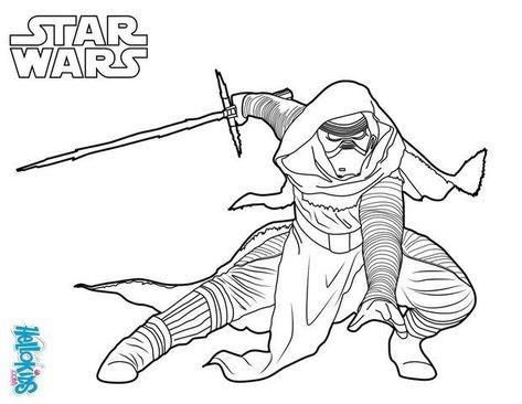 Coloriage De Star Wars 7 Du Mechant Kylo Ren Un Coloriage Inedit