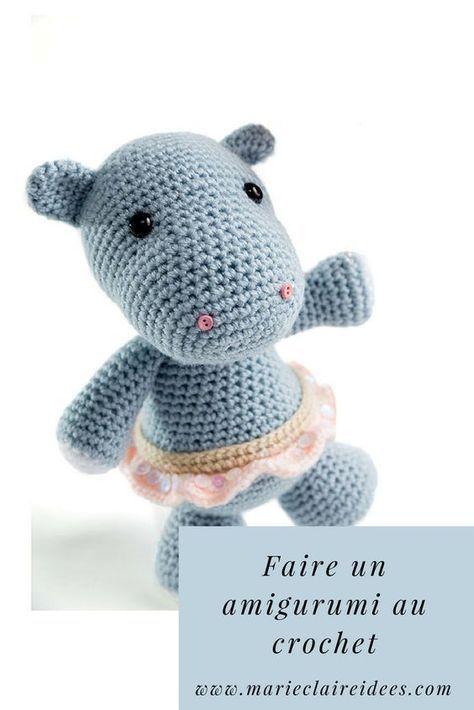 Tuto Crochet Faire Un Amigurumi Hippopotame Tricot Diy
