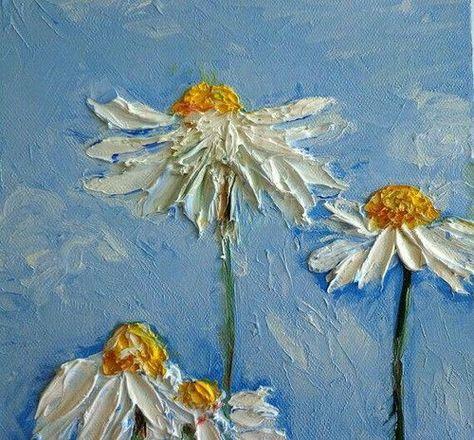 Art Flowers And Aesthetic Image Malerei Acrylmalerei Abstrakt