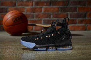 finest selection 8728e e307e HFR x Wmns LeBron 16 Nike Black Gold Men's Basketball Shoes ...