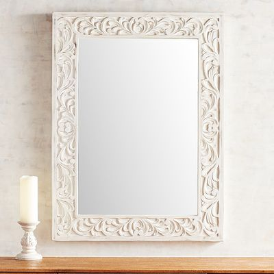 Whitewashed Vine Carved Mirror Mirror Design Wall Mirror Dark Painted Walls