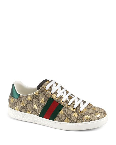 Gucci GG Canvas Bee Sneakers | Gucci