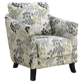 Monarch Specialties Accent Chair Earth Tone Floral Fabric I 8183