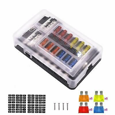 Ad Ebay Link 12 Way Fuse Box Blade Fuse Block Holder Screw Terminal W Negative 5a 10a 15a 20a In 2020 Fuse Box Things To Sell Fuses