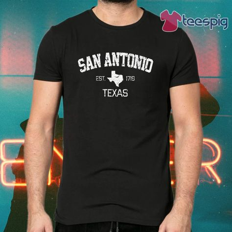 San Antonio Texas Men Shirts T-Shirt Tee