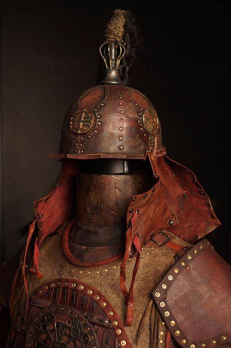 Mittelalterlichen mongolischen Leder voller Rüstung Kit 2