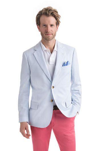 Seersucker Blazer Kentucky Derby Attire Mens Outfits Derby Attire