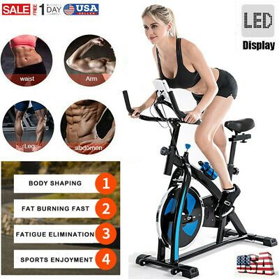 Ad Ebay Pro Stationary Exercise Fitness Bike Indoor Cardio Cycle Bicycle Water Bottle In 2020 Biking Workout Cycling Workout Bicycle Workout