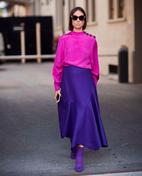 Depois da pantone anunciar o Ultra Violet como a cor de 2018 e a WGSN confirmar como uma das maiores tendências do ano, vieram as semanas de moda para provar que nao tem como escapar: em diferentes tons de lavanda, roxo, lilás e violeta, das passarelas ao street style, a cor se fez presente e dominou seu espaço!