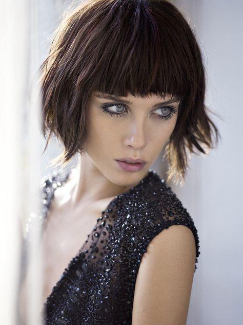 Cortes De Pelo Flequillo Corto Buscar Con Google Peinados Look S