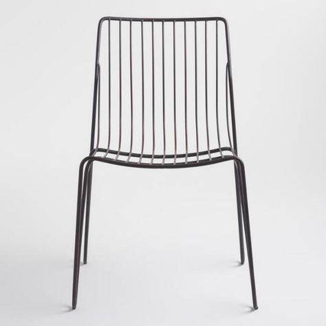 Strange Black Metal Hairpin Amara Outdoor Stacking Chairs Set Of 2 Short Links Chair Design For Home Short Linksinfo
