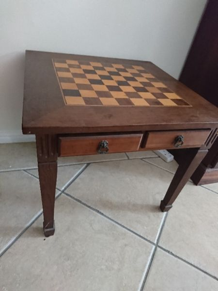 Chess Table Antiques For