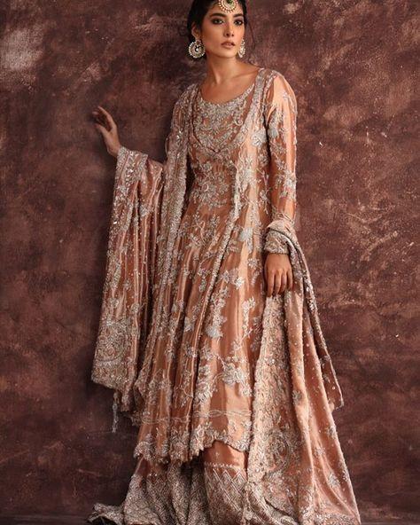 9eb02d989b Blush pink Pakistani bridal wear lehnga from Daria-e-Nur collection ...
