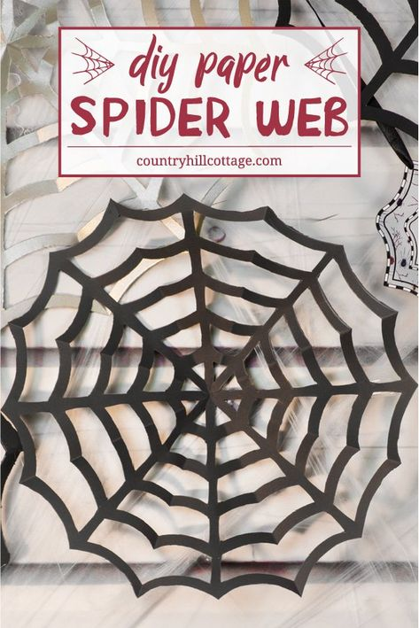 Paper Spider Webs Add Super Spooky Vibes To Your Home Or Classroom Diy Cobwebs Diy Halloween Spider Halloween Spider Decorations Halloween Decorations School