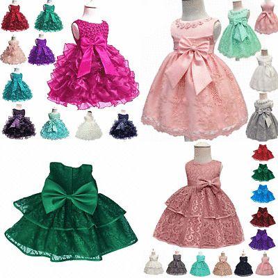 Princess Dresses Tutu Party Girl Formal Flower Bridesmaid Baby Kid Wedding Dress