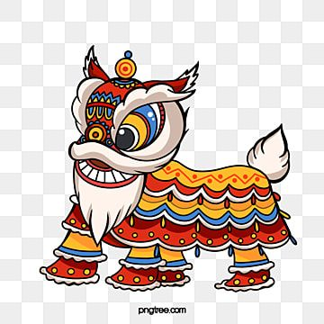 Lion Dance Cartoon Chinese Decoration Lion King Dance Festive Accessories Red Png Transparent Clipart Image And Psd File For Free Download Lion Dance Cartoon Lion New Year Cartoon