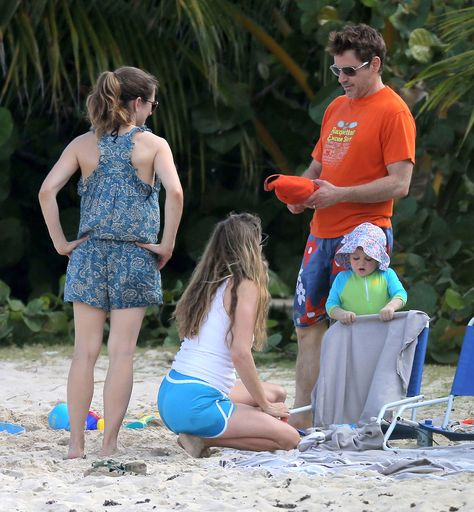 Robert Downey Jr with wife Susan and son Exton in St Barts